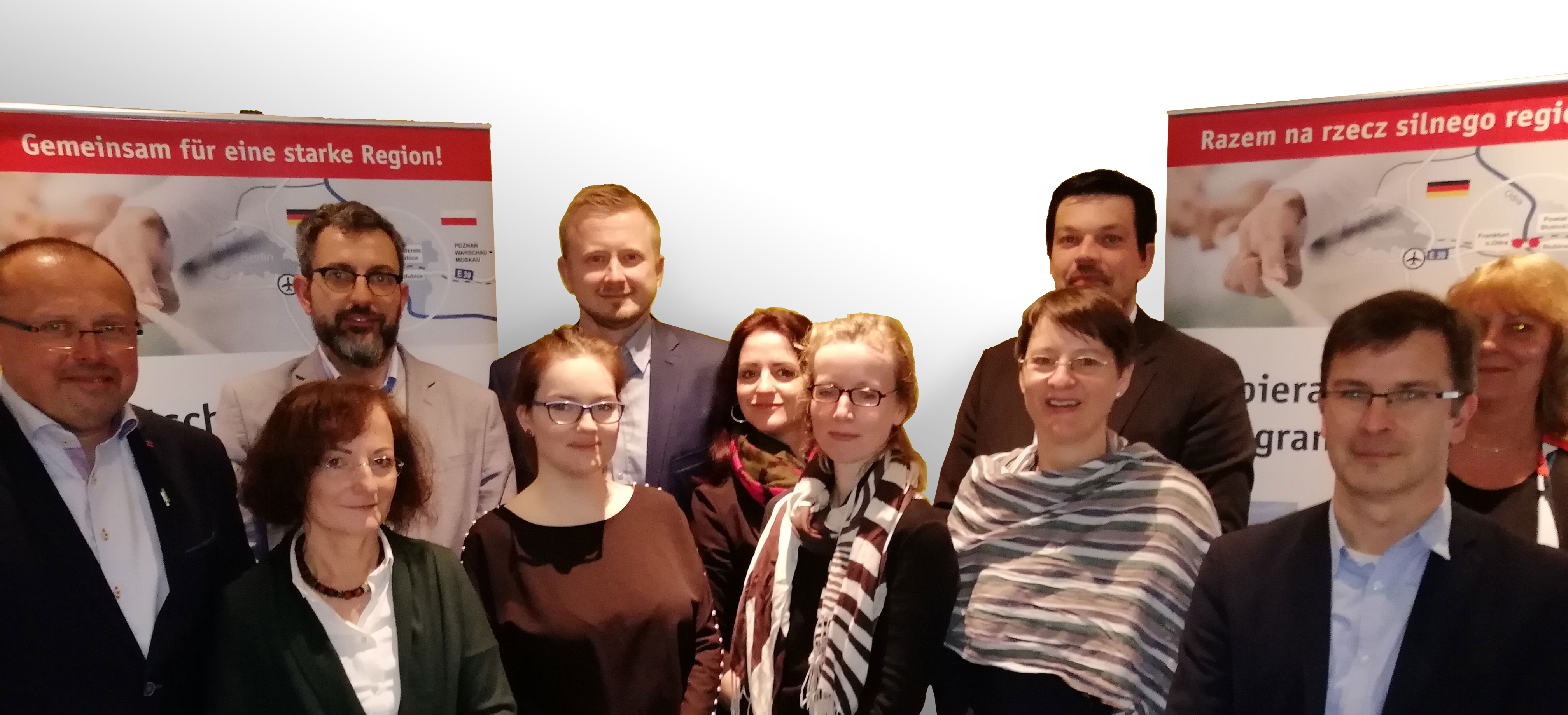 Gruppenbild sechster offizieller Arbeitskreis der Interreg-Projektgruppe
