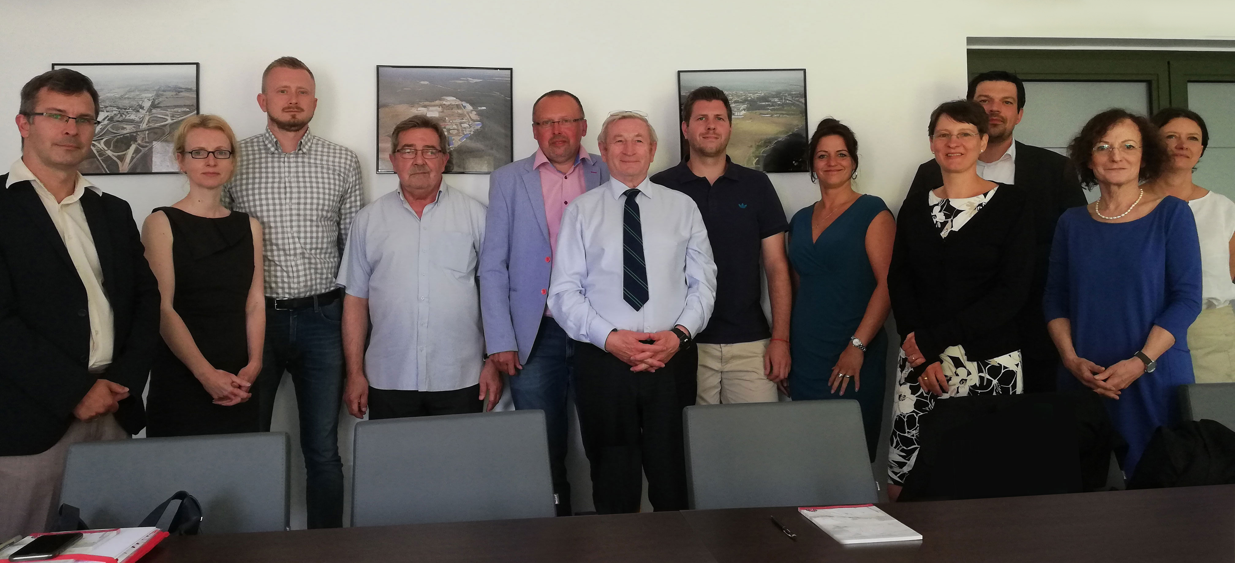 Gruppenbild siebter offizieller Arbeitskreis der Interreg-Projektgruppe in Küstrin