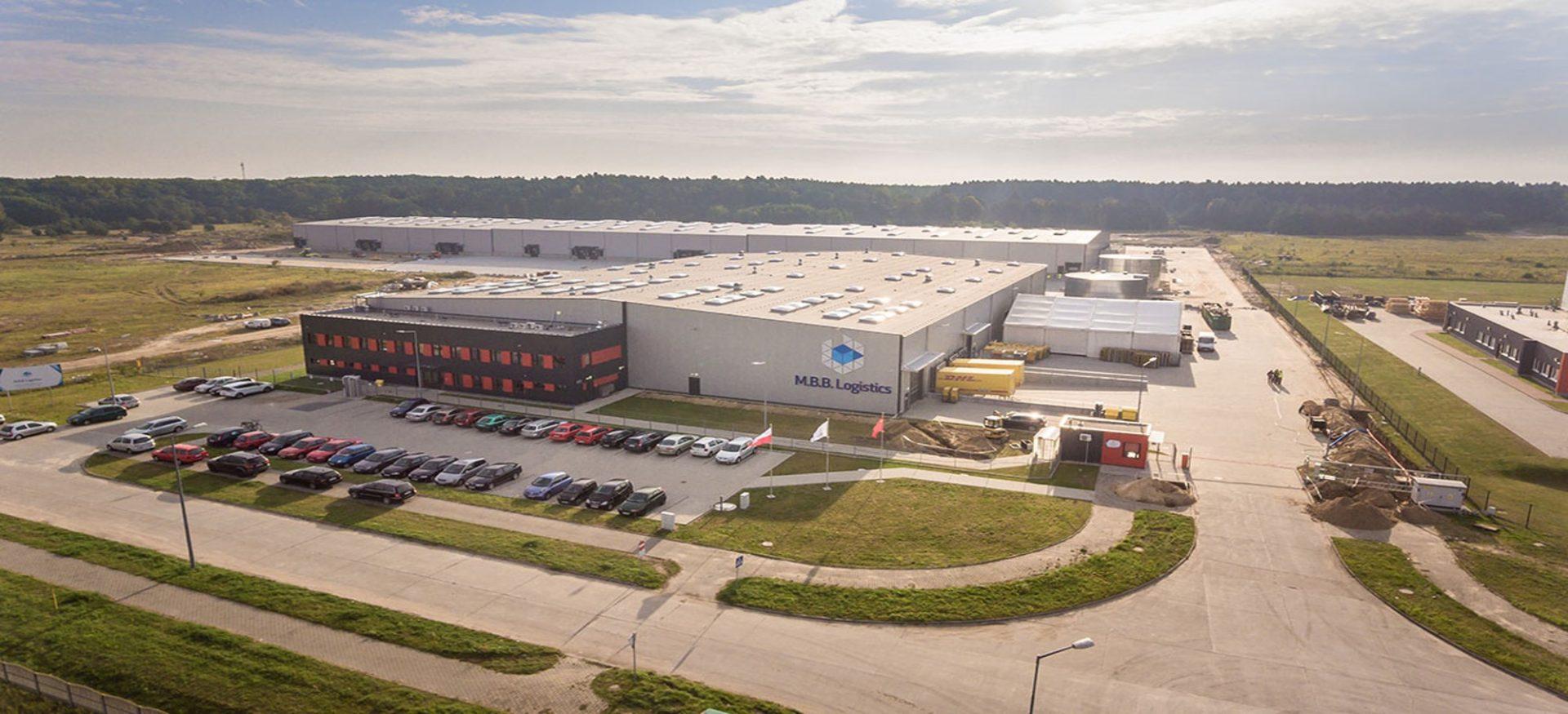 Warenlager von M.B.B. Logistics im polnischen Słubice